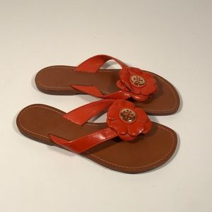 Tory Burch Breely Flower Sandals Women 6 M, EUC